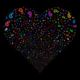 Ear Fireworks Heart Royalty Free Stock Images