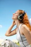 ear girl phones Στοκ εικόνα με δικαίωμα ελεύθερης χρήσης