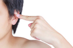 Ear and hand Stock Photography