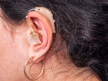 Ear, hearing aid Royalty Free Stock Photography