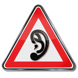 Ear and hearing Royalty Free Stock Images