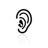 Ear hearing vector icon Stock Photos