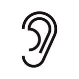 Ear icon vector illustration