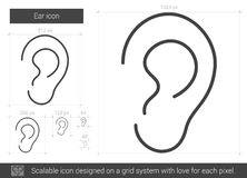 Ear line icon. Stock Photo