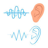 Ear listen sound, Royalty Free Stock Image