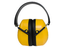 Ear muff. Yellow Ear muff isolated on a white background Royalty Free Stock Images