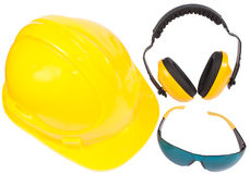 Ear muff, helmet and eyewear Royalty Free Stock Photo
