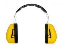 Ear muffs for hearing protection Stock Photography