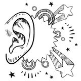 An ear for music vector Stock Photos