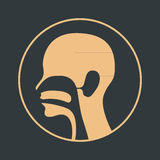 Ear nose and throat logo. Vector Royalty Free Stock Image