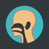 Ear nose and throat logo Royalty Free Stock Photography