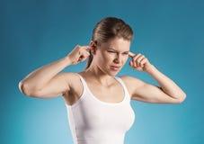 Ear pain stock image
