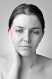 Ear pain Stock Image