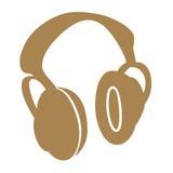 Ear phone symbols. Closeup of ear phones symbols on white background Royalty Free Stock Photos
