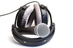 Ear-phones and microphone Royalty Free Stock Image
