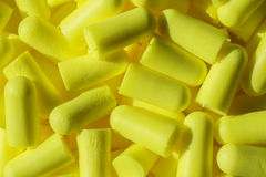 Ear plug background Stock Photo