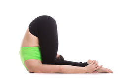 Ear Pressure Yoga Pose Royalty Free Stock Photo