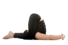 Ear Pressure Yoga Pose Stock Photo