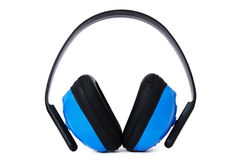 Ear Protection � Blue Royalty Free Stock Photo