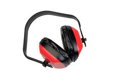 Ear protection for construction Royalty Free Stock Photography