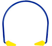 Ear protection plugs. Objects to protect from deafness on a white background Stock Photography