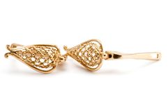 Ear-ring on white royalty free stock photos