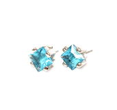 Ear-rings with blue gem Stock Photography