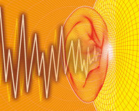 Ear sound waves Royalty Free Stock Images