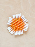 Ear sticks scattered on a table. See my other works in portfolio Royalty Free Stock Photography