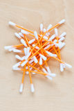 Ear sticks scattered on a table Stock Photography