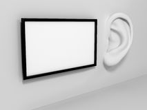 Ear in tte wall with banner. Stock Images