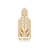 Ear of wheat - vector logo template concept illustration. Cereal organic sign. Ecology nature symbol. Agriculture icon. Royalty Free Stock Photography