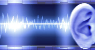 Free Ear With Soundwave Stock Image - 2885131