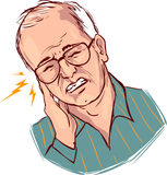 Earache. A vector illustration of earache Royalty Free Stock Photography