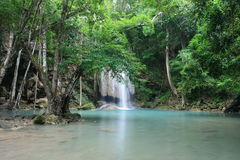 Earawan Water Fall. In Thailand Royalty Free Stock Images