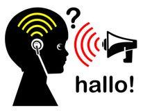 Earbuds和听力问题 免版税库存图片