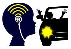 Earbuds может угрожать жизнь иллюстрация штока