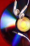 Earbuds i cd Obraz Stock