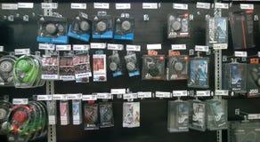 Earbuds sälja Arkivbilder