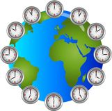 Earch Clocks Circle hourly Stock Images