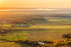 Eardley悬崖全景在秋天的 免版税库存图片