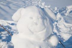 Eared sneeuwman Stock Foto's