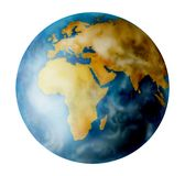 Earht del planeta en blanco Stock de ilustración