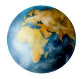 Earht do planeta no branco Fotos de Stock Royalty Free