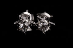 Earing Diamant Lizenzfreies Stockfoto