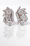Earings диаманта Стоковое Фото