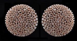 Earings del diamante con la reflexión Imagenes de archivo