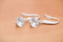 Earings. Details of isolated earings Royalty Free Stock Images