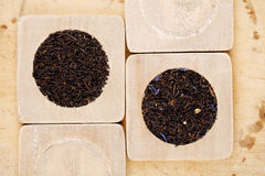 Earl Grey and Lady Grey black loose tea Royalty Free Stock Photography
