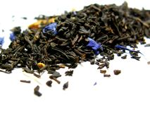 Earl Grey Tea. Real Grey Tea - leaves Royalty Free Stock Photography